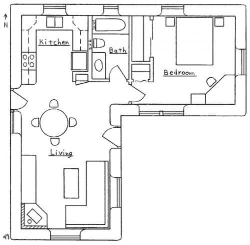 L-shaped House Plans
