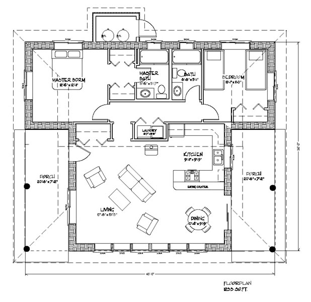 Casa del sol plan for Concrete block home designs