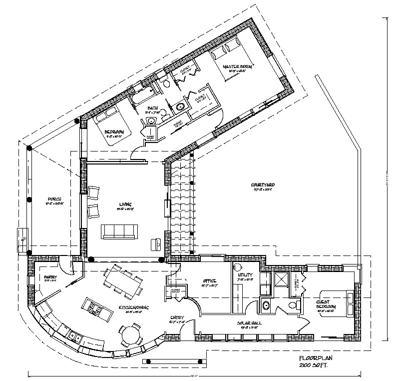 Hacienda House Plans Center Courtyard Hacienda House Plans Center