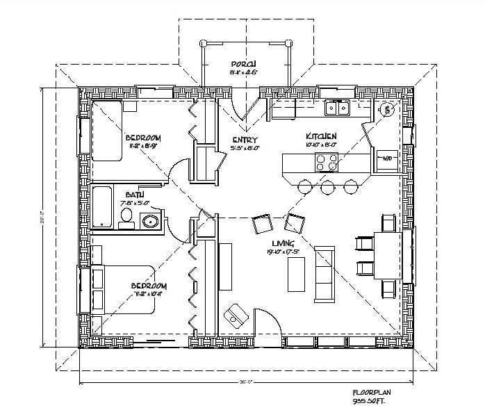 Cozy strawbale plan for Small cozy home plans