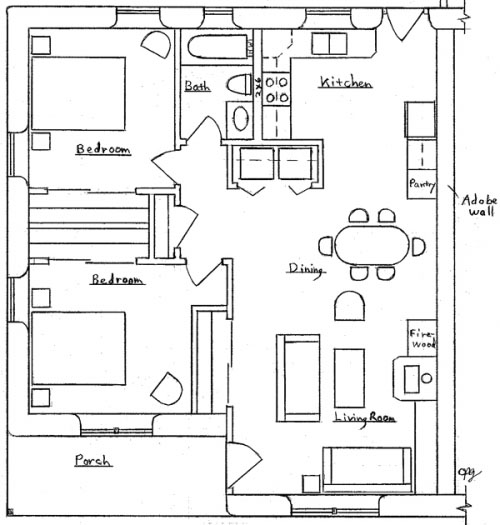... interior 2 bedroom 1 bath footprint 35 x 30 one unit 35 x 60 two units