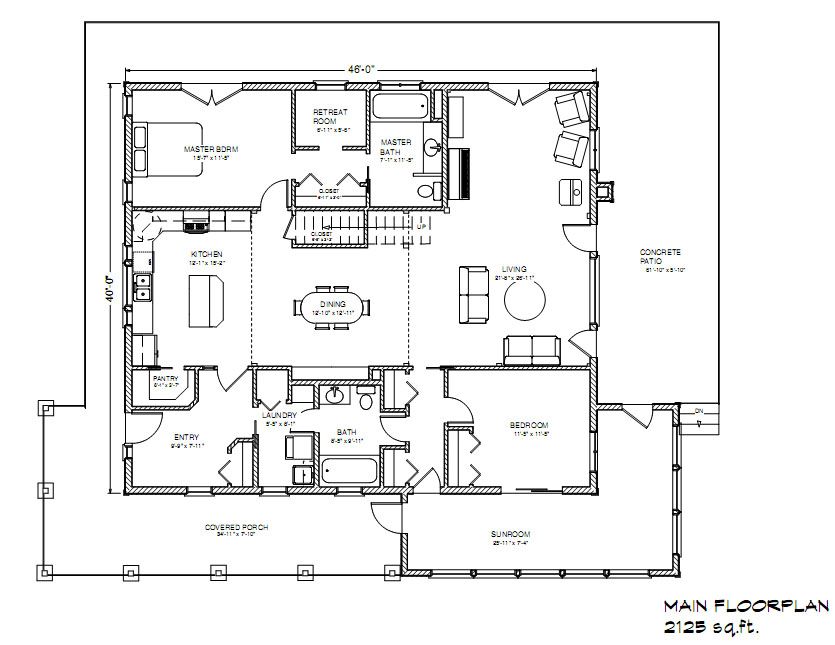 eco farmhouse 1700 - Farmhouse Plans