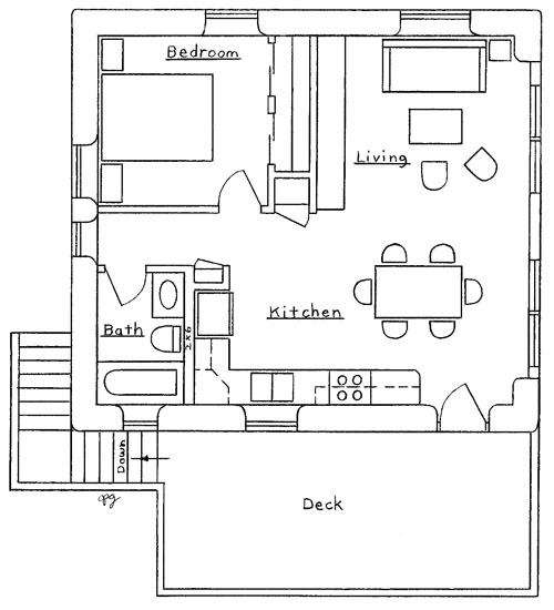 Garage apartment plan for Garage apartment plans 1 story
