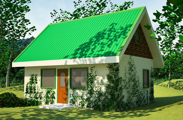 Delightful A Play On Words, This Small House Has U0027greenu0027 Walls And A Living Roof.  Plant Covered Buildings Are Very Practical, Because They Can Save Materials  And ...