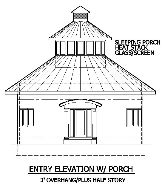 Round Elliptical Home Plan