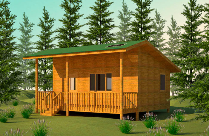 Wilderness cabin plan for Small easy to build cabin plans